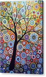 Abstract Original Tree Art Painting ... Sun Arising Acrylic Print