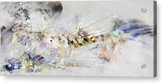 Abstract Painting - New Ideas  Acrylic Print by Jean Moore