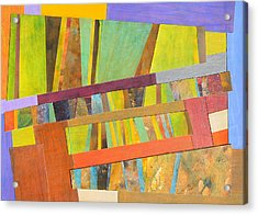 Abstract Paper Collage No 2 Acrylic Print by Adel Nemeth