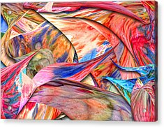 Abstract - Paper - Origami Acrylic Print by Mike Savad