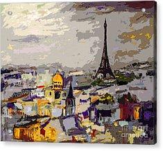 Abstract Paris Memories Acrylic Print