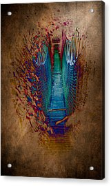 Abstract Path Acrylic Print by Loriental Photography