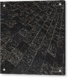 Abstract Path With Dark Background Acrylic Print by Ken Schulze