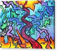 Abstract Paths Acrylic Print