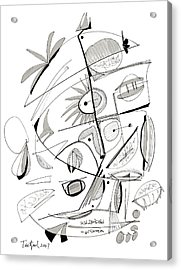 Abstract Pen Drawing Sixty-seven Acrylic Print