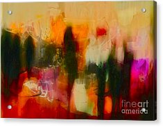 Acrylic Print featuring the photograph Abstract People by Danica Radman
