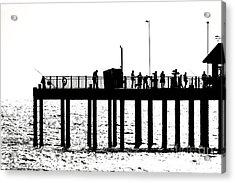 Abstract Pier Acrylic Print by David Warrington