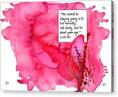 Abstract Quote 3 Acrylic Print
