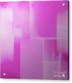 Abstract Radiant Orchid Square Acrylic Print