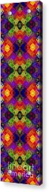 Abstract - Rainbow Connection - Panel - Panorama - Horizontal Acrylic Print by Andee Design