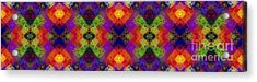 Abstract - Rainbow Connection - Panel - Panorama - Vertical Acrylic Print by Andee Design