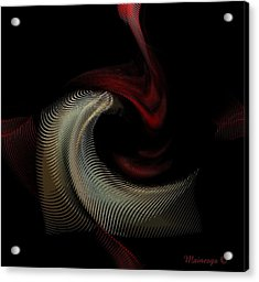 Abstract -red-gold-black Acrylic Print by Ines Garay-Colomba