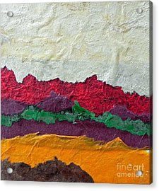 Abstract Red Hills Acrylic Print