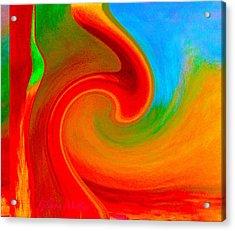 Abstract Red Splendor Acrylic Print