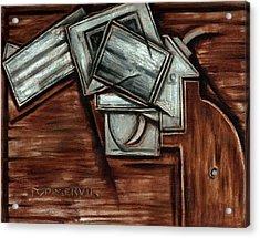 Tommervik Cubism Hand Gun Art Acrylic Print