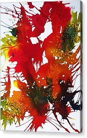 Abstract - Riot Of Fall Color II - Autumn Acrylic Print by Ellen Levinson