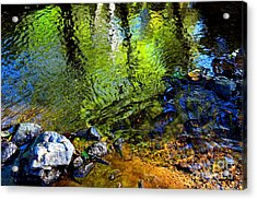 Abstract Ripples Acrylic Print