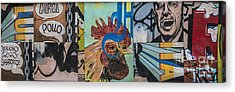 Abstract Rooster Panel Acrylic Print by Terry Rowe