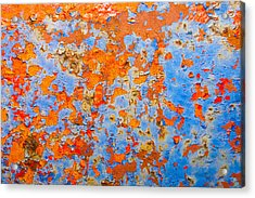 Abstract - Rust And Metal Series Acrylic Print by Mark Weaver