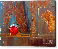 Abstract Rust Acrylic Print by Marilyn Smith