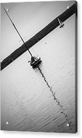 Abstract Sailing Boat Acrylic Print