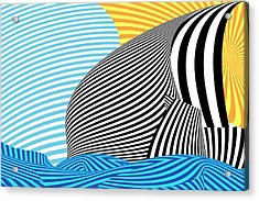 Abstract - Sailing Acrylic Print by Mike Savad