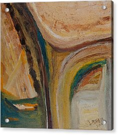 Abstract Sand Mix Acrylic Print