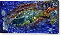 Abstract Sea Turtle 1 Acrylic Print by Luis  Navarro