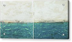 Abstract Seascape 02/14 Diptych Acrylic Print