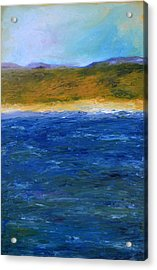 Abstract Shoreline Acrylic Print by Michelle Calkins