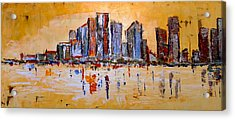 Acrylic Print featuring the painting Abstract Skyline by Zeke Nord