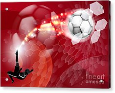 Abstract Soccer Sport Background Acrylic Print by Christos Georghiou