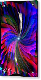 Abstract - Spinner Acrylic Print by Michael Rucker