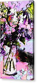Abstract Still Life In Lavender Acrylic Print by Ginette Callaway