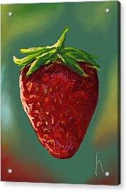 Abstract Strawberry Acrylic Print by Veronica Minozzi