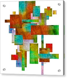 Abstract Study 21 Abstract -art Acrylic Print by Ann Powell