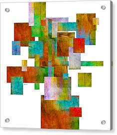 Abstract Study 22 Abstract- Art Acrylic Print by Ann Powell