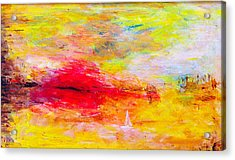 Abstract Sunset Over The Sea Acrylic Print by Martin Capek