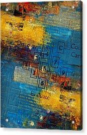 Abstract Tarot Art 016 Acrylic Print by Corporate Art Task Force