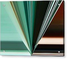 Abstract - Teal - Aqua - Five Acrylic Print