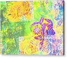 Abstract The Colors Of Time And Place Acrylic Print by Regina Kyle