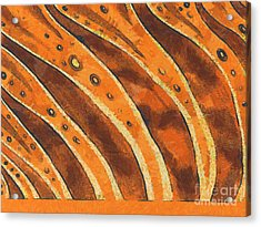 Abstract Tiger Stripes Acrylic Print by Pixel Chimp