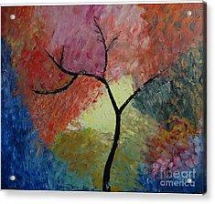 Abstract Tree Acrylic Print by Jnana Finearts