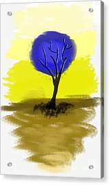 Abstract Tree Painting Acrylic Print