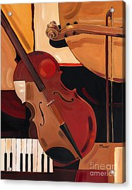 Abstract Violin  Acrylic Print by Paul Brent