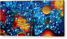 Abstract Whimsical Original Landscape Painting Childhood Memories By Madart Acrylic Print