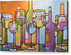 Abstract Wine Dining Room Bar Kitchen Art ... Time To Relax Acrylic Print