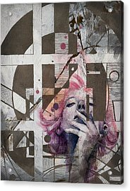 Abstract Woman 001 Acrylic Print by Corporate Art Task Force