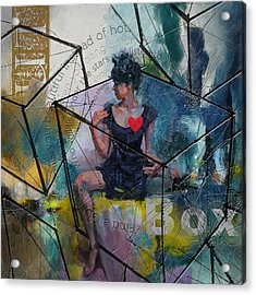 Abstract Woman 002 Acrylic Print by Corporate Art Task Force