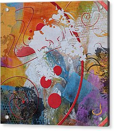 Abstract Women 012 Acrylic Print by Corporate Art Task Force